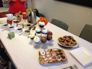 The spread at the tea party